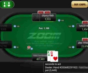 Игра в покер на мобильном телефоне